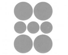 1 Bogen Bügelbilder - Reflektierend - Punkte - 9cm x 12cm - Silbergrau