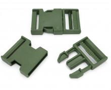 2 Steckschnallen - 40mm - Kunststoff - Armygrün