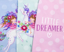 Jersey - Paneel - Little Dreamer - Wildblume Illustration - abby and me