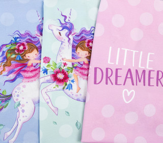 Jersey - Little Dreamer - Paneel - Bio-Qualität - Wildblume - abby and me