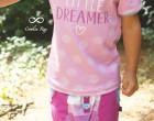Jersey - Kombistoff - Streifen - Little Dreamer - Wildblume Illustration - abby and me