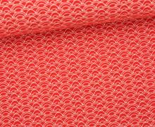 Stoff - Bögen - Curves - Summertime - Rot