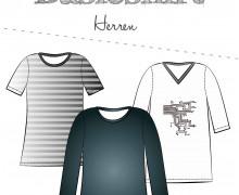 Schnittmuster - Basicshirt Herren - 2XS-4XL - Fadenkäfer