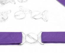 1 Bikiniverschluss - Rund - Plastik - Transparent