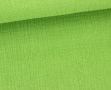 Musselin- Muslin – Double Gauze – Uni – Apfelgrün