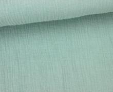 Musselin- Muslin – Double Gauze – Uni – Mintgrün