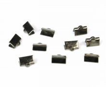 10 Verschlüsse - Endkappen - Klemmen - End Chaps - 10mm - Anthrazit
