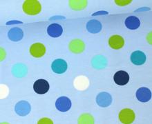 Jersey - Punkte - 2cm - Pastellblau