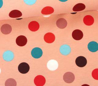 Jersey - Punkte - 2cm - Pastellrosa