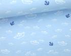 Jersey - Kombistoff - Seebär - Treeebird - Schiffchen - Anker - hellblau