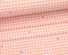 Jersey - Kombistoff - Indianerbär - Treeebird - Dreiecke - Bonbon Rosa