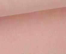 Musselin - Muslin - Füsse - Footsteps - Vintage - Double Gauze - Rosa
