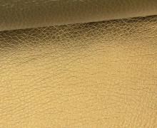Kunstleder - Fashionstoff - Nappa - 140cm - Gold