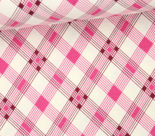 Stoff - Open Plaid - Washington Depot - Denyse Schmidt - Pink/Weiß