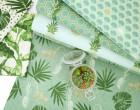 Feste Baumwolle - Dekostoff - Banenenblätter - Pure Nature - Weiß