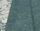 Fashionstoff - Strickstoff - Glänzend - Elastisch - Silber/Türkisblau