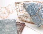 Fashionstoff - Strickstoff - Glänzend - Elastisch - Silber/Blau