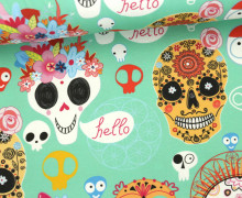 Jersey - Sugar Skulls Kids - Halloween - mint - abby and me