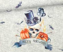 Jersey - Mr. Pumpkin Skull - Halloween - Paneel - Grau Meliert - abby and me