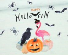 Jersey - Happy Trick or Treating mint - Halloween - Paneel  - Aqua/Mint Meliert - Bio-Qualität - abby and me
