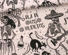 Jersey - Dancing Bones - Halloween - melange zartrosa - abby and me