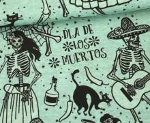 Jersey - Dancing Bones - Halloween - melange mint - abby and me