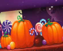 Jersey - Happy Halloween - Kürbis - Geister - Violett
