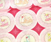 Stoff - Rehkitze - Christmas Dear - Pink