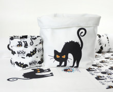 DIY-SET - NÄHSET - Utensilo - Boo Cat & Boo Bat - Halloween - abby and me