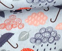 Sommersweat - Unterm Regenschirm - Rosa/Blau - abby and me