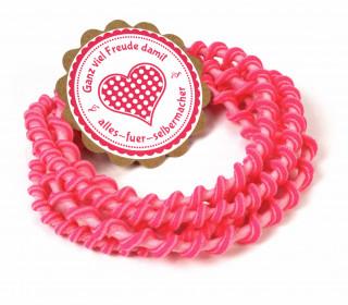 1m Gummikordel - Gummilitze - Gedreht - 6mm - Rosa/Pink