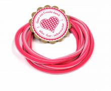 1m Gummikordel - Gummilitze - Streifen - Stripes - 5mm - Pink/Flieder