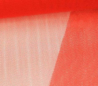 Fester Tüllstoff - 140cm - Rotorange