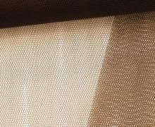 Fester Tüllstoff - 140cm - Schokobraun