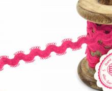 1 Meter Gummi - Zierborte - Wellen - Schlaufen - Ziergummi - 15mm - Pink