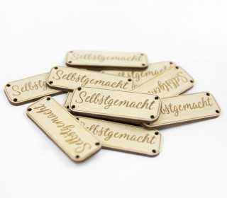 10 HOLZ LABEL - Selbstgemacht