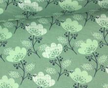 Stoff - Blume - Blümchen - Tante Ema - Mintgrün