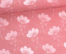 Stoff - Blume - Blümchen - Tante Ema - Pastellrosa