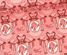 Stoff - Flamingo - Girl - Love and Magic - Tante Ema - Pastellrosa