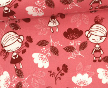 Stoff - Blumen - Girl - Tante Ema - Pastellrosa