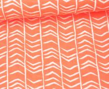 Stoff - Double Gauze - Linien - Muster - Grafik - Apricot