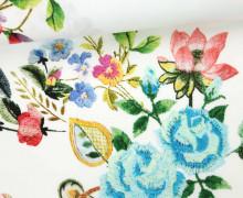 Stoff - Feine Baumwolle - Blumen - Flowers - Weiß