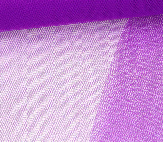 Tüllstoff - Nylon - 145 cm - Lila