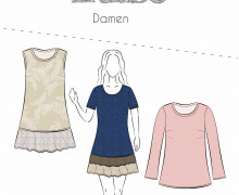 Schnittmuster - Luise - Damen - Kleid - Basic - 32-58 - Fadenkäfer