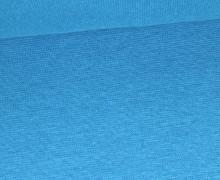 Glattes Bündchen - Uni - Schlauchware - Cyanblau