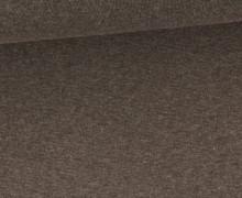 Glattes Bündchen - Uni - Schlauchware - Dunkelbraun Meliert