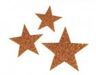 1 Bügelbild - Glitzer - Sterne - Klein - Aufbügler - Rotgold