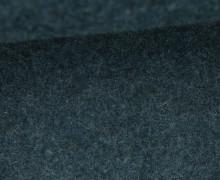 Wolle - Walkstoff - Schwarzblau Meliert