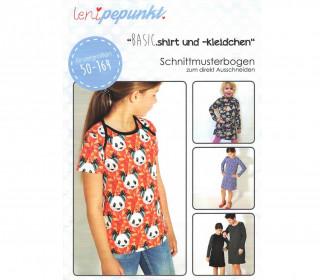 Schnittmuster - Basic.Shirt und Kleidchen - Kids - 50-164 - lenipepunkt