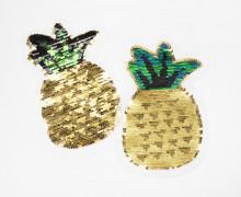 1 Aufnäher - Ananas - Wendepailletten